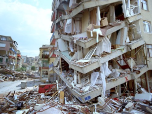 A building destroyed in the 1999 Izmit earthquake