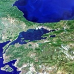 Satellite image of Istanbul, Turkey. (ESA)