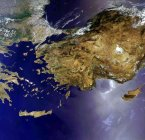 ENVISAT image of the earthquake prone East Mediterranean  (ESA)