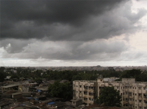 Monsoon rains over Mumbai. Wikimedia Commons