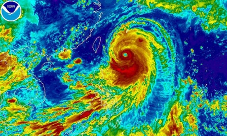 Typhoon Neoguri, the first super typhoon of 2014. Source: EPA/NOAA