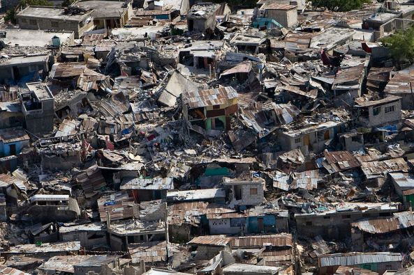 Houses destroyed in the 2010 Haiti earthquake. Source: UNDP